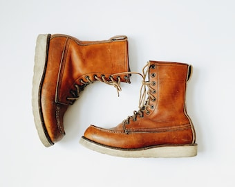 """Vintage Red Wing 8"""" Classic Moc in Oro Legacy Leather"""