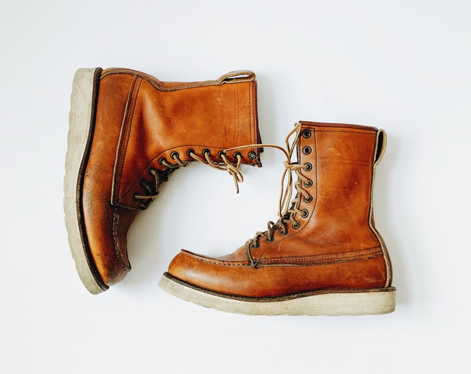 "Vintage Red Wing 8"" Classic Moc in Oro Legacy Leather"