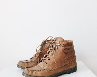 vintage Ralph Lauren Country leather boots | leather hiking boots | women's leather boots | leather camping boots | Able Shoppe