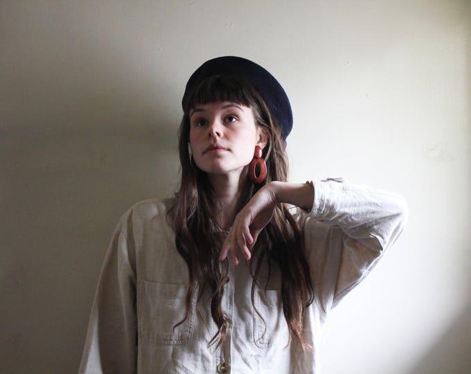 navy blue wool BERET | winter beret | beret hat | women's beret | vintage beret | white beret | wool beret | ABLE shoppe | french fashion