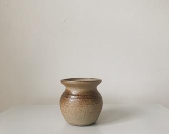 Vintage neutral ceramic vessel