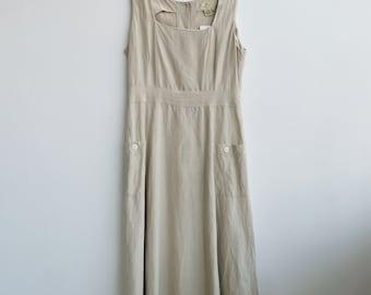 Vintage linen + silk dress