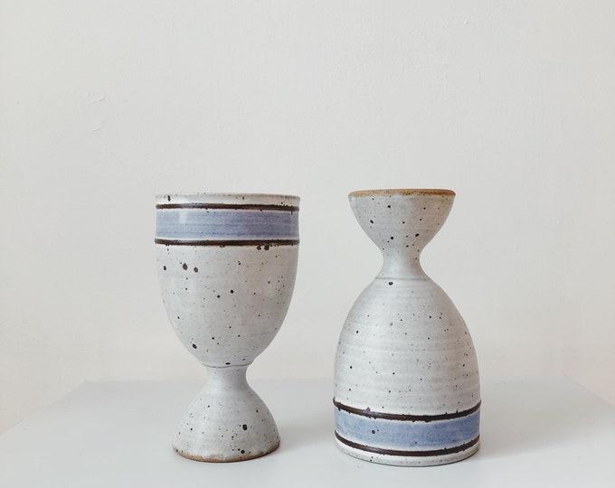 Vintage ceramic goblets