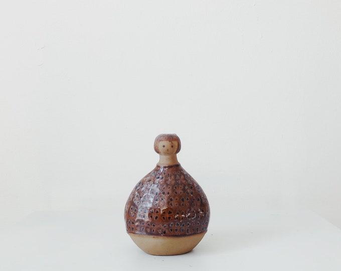 Vintage little lady ceramic vase