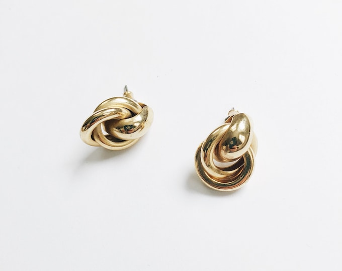 Golden knot earrings | pierced earrings | small gold earrings | statement earrings  | ABLE Shoppe