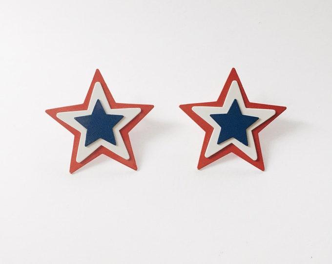 vintage earrings | vintage statement earrings | Americana earrings | Patriotic Earrings | Able Shoppe