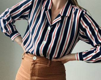 Vintage striped Anne Klein blouse