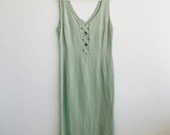 Vintage green midi dress