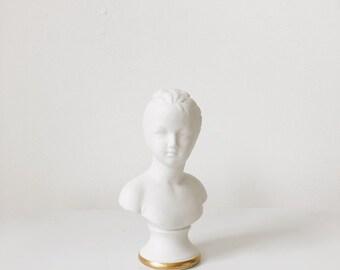 Vintage porcelain bust statue