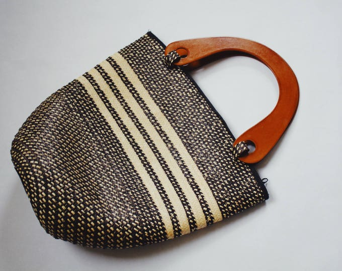 SUKEY BAG | vintage woven bucket bag | woven purse | bucket bag | vintage handbag | bucket purse | Able Shoppe