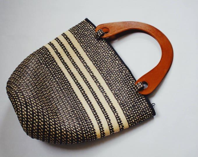 SUKEY BAG   vintage woven bucket bag   woven purse   bucket bag   vintage handbag   bucket purse   Able Shoppe