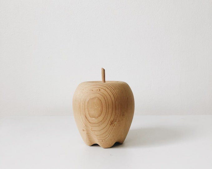Vintage wooden apple