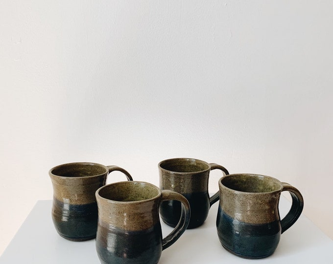 Vintage ceramic mugs | vintage mug set | vintage pottery | vintage ceramics | ABLE SHOPPE