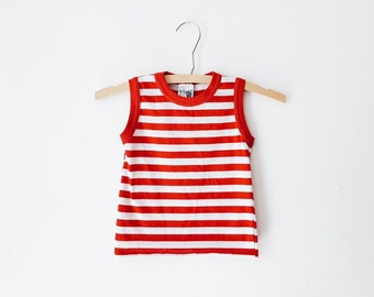 vintage baby striped tank