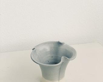 Vintage small wavy vase