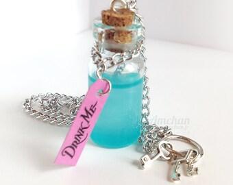 Drink Me Necklace/Keychain - Alice in Wonderland