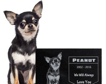 Custom Pet Granite Memorial