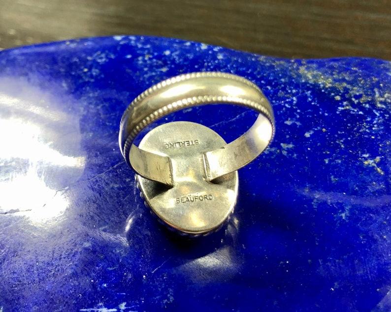 African Spectrolite Gemstone Africa Natural Madagascar Size 12 14 Golden Faceted Labradorite Ring in handmade Sterling Silver Setting