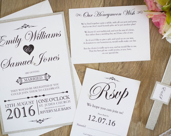 Noir Glam Invitation