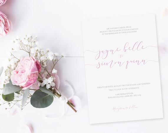Elegant Rose Invitation