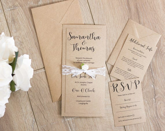 Floral Lace Invitation