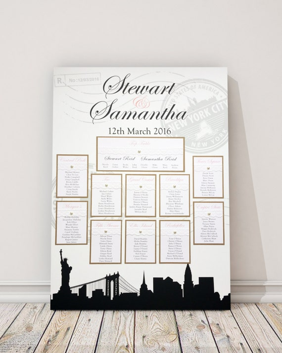 New York Wedding Table Plan