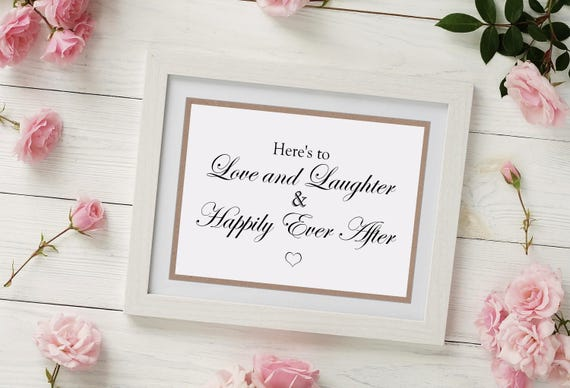 Love and Laughter Wedding Sign