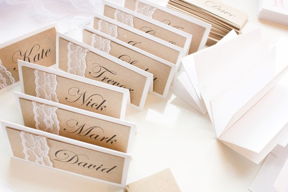 Vintage Kraft Place Name Cards
