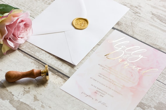 Rose Foil Invitation