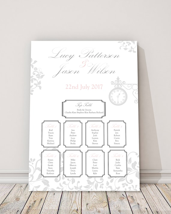 Glistening Time Wedding Table Plan