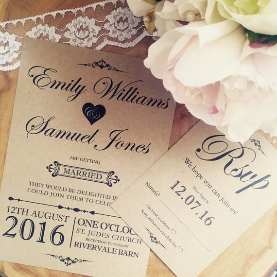 Rustic Memories Invitation