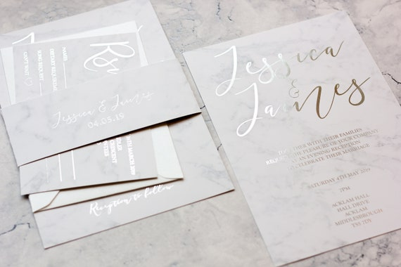 Marble and Silver Foil