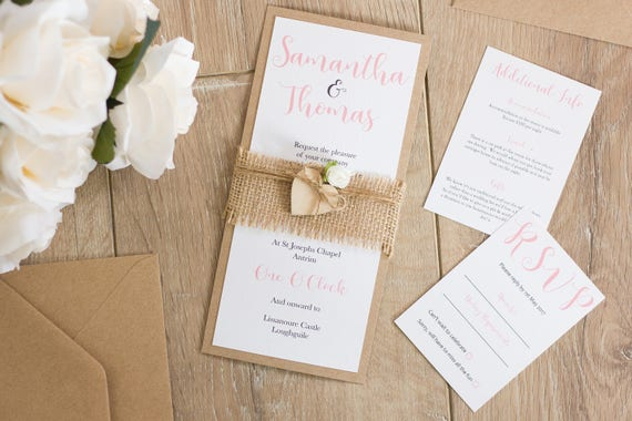 Floral Rose Invitation