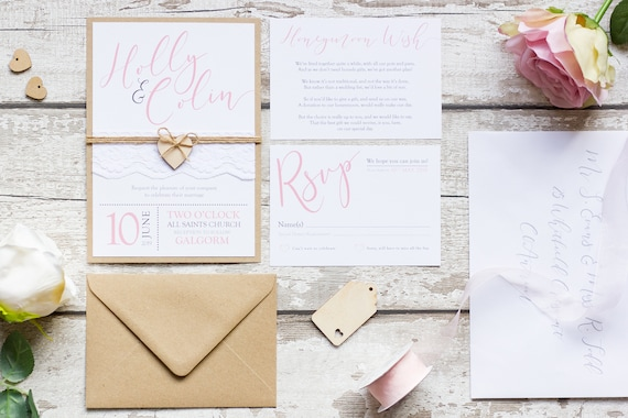 Calligraphy Blush Invitation