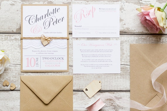 Vintage Blush Invitation