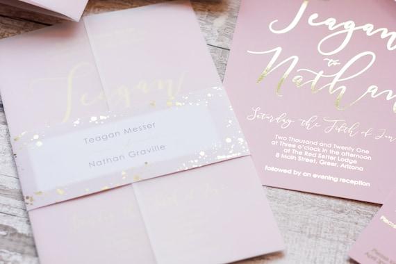 Blush & Gold Foil Invitations