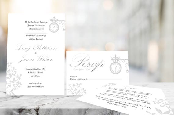 Glistening Time Printable Invitation