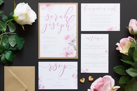 Floral Mist Invitation