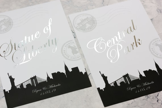 Foil Table Name Cards
