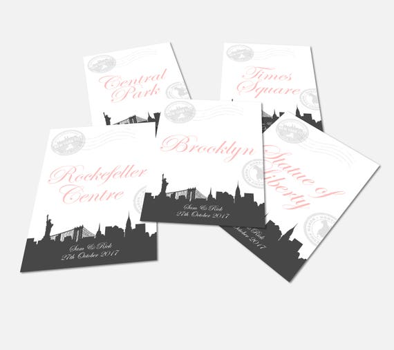 New York Table Name Cards