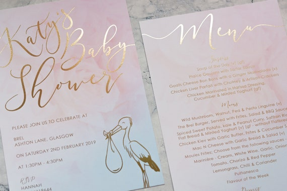 Baby Shower Invitation with Foil