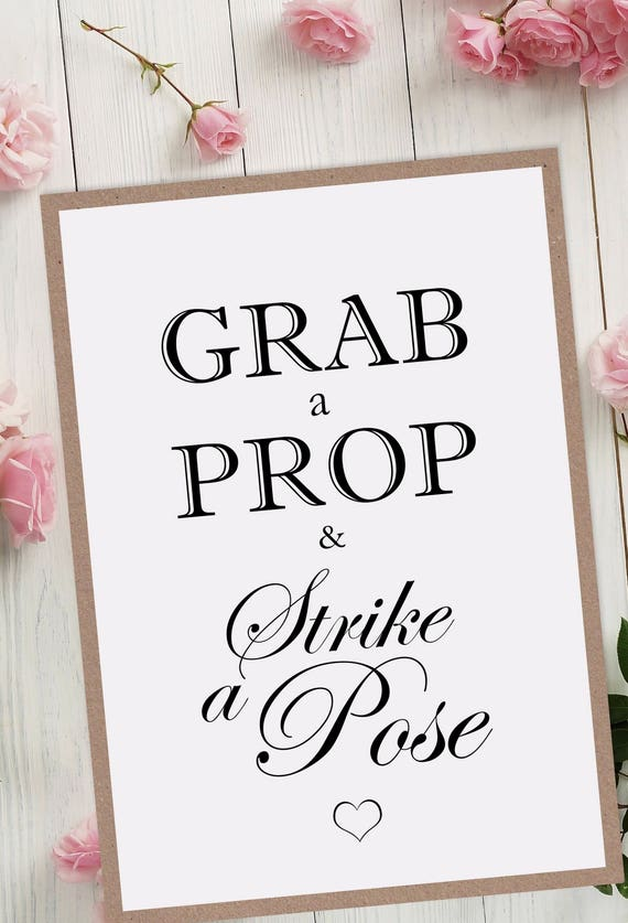 Grab a Prop Wedding Sign