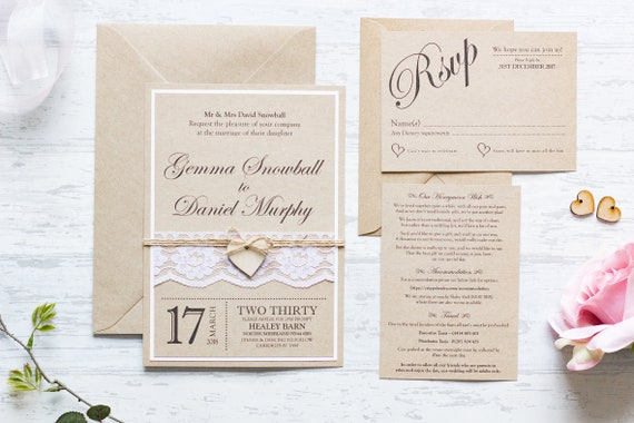 Vintage Kraft Invitation