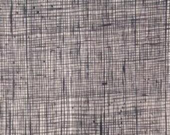 DE#6883 ZJ Heath Fabric  Bone Black From Alexander Henry Fabrics