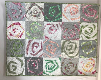 PATTERN - Ka-Pow! Design by Aardvark Quilts with KIT OPTION With Rose Water by Tina Givens Fabrics