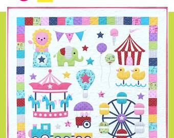 Mini Fun Fair Quilt Pattern by Melly & Me - Paper Printed Pattern