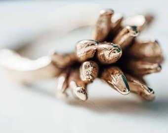 Cast Bronze Desert Bloom Ring
