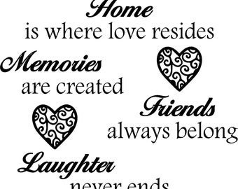 Home is where love resides - Vinyl wall decal