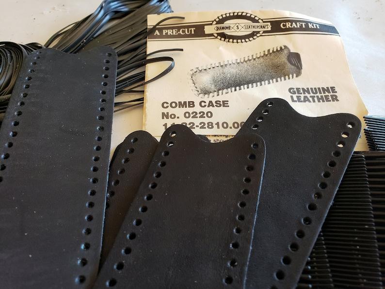 Lot 24 Leather Kit/_Children/_Adult/_Narrow Pouch/_Pen Pencil Comb Case