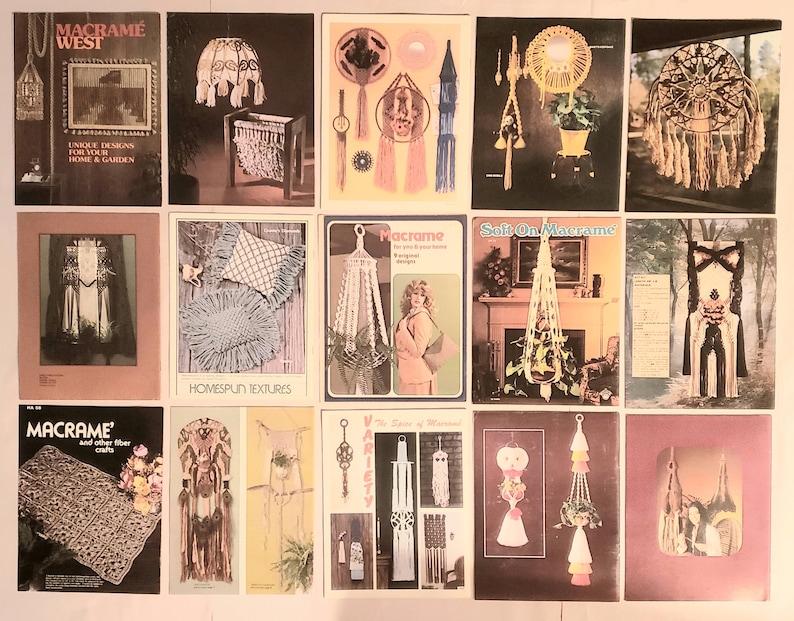 Lot #3 of 15 Macrame Vintage Instruction Project Booklets